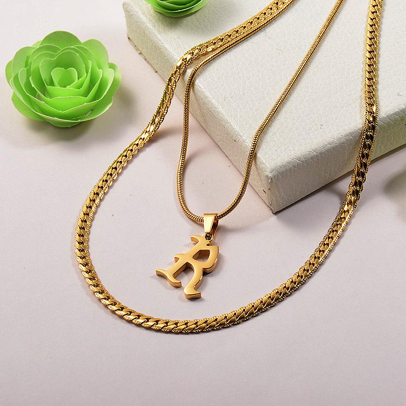 Collares de Acero Inoxidable para Mujer -SSNEG142-26673