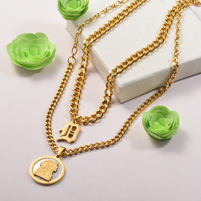 Collares de Acero Inoxidable para Mujer -SSNEG142-26678