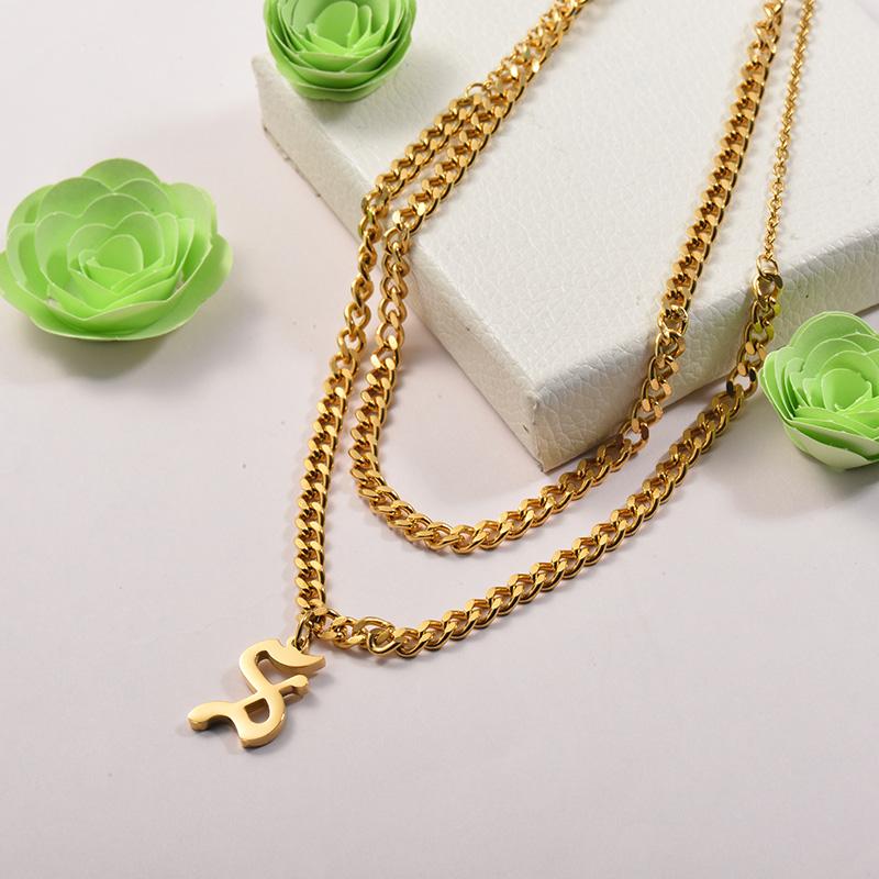 Collares de Acero Inoxidable para Mujer -SSNEG142-26681
