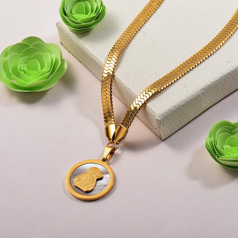 Collares de Acero Inoxidable para Mujer -SSNEG142-26677
