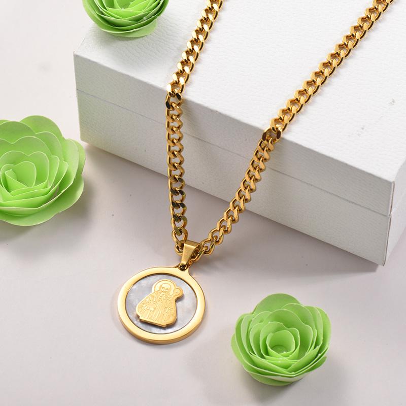 Collares de Acero Inoxidable para Mujer -SSNEG142-26690