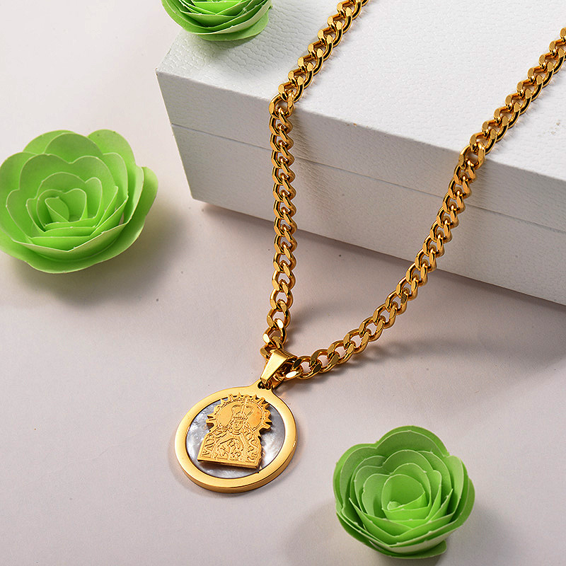 Collares de Acero Inoxidable para Mujer -SSNEG142-26686