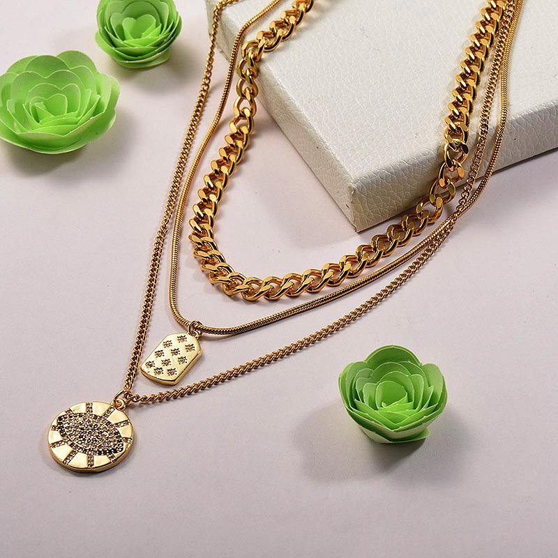 Collares de Acero Inoxidable para Mujer -BRNEG142-26679