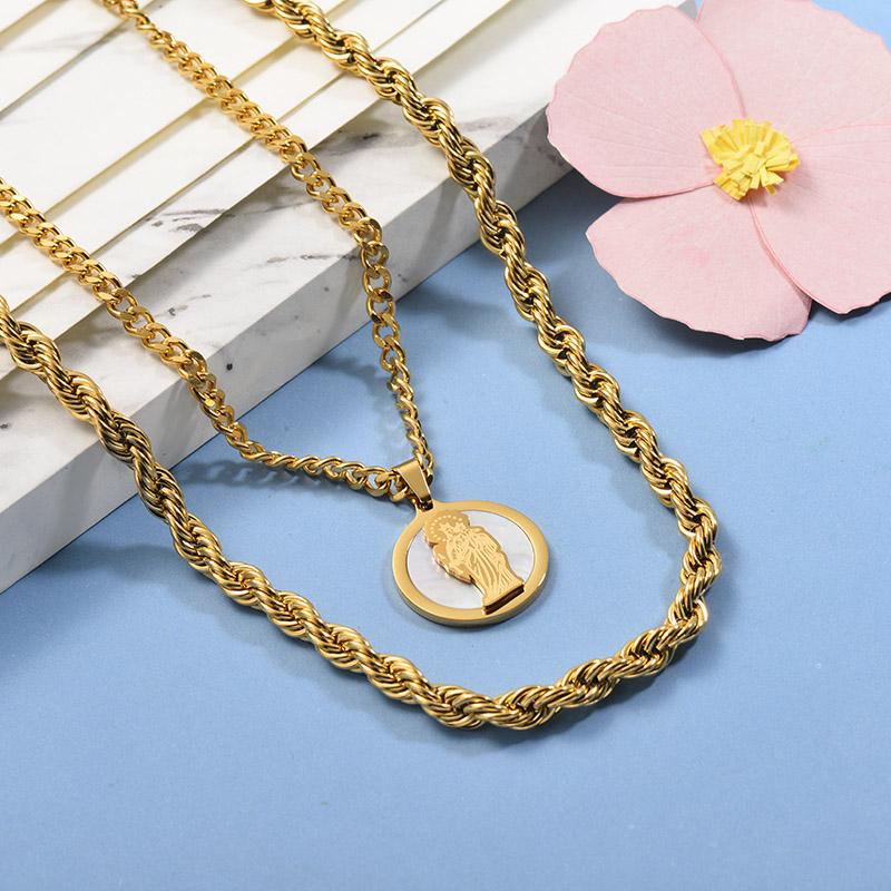 Collares de Acero Inoxidable para Mujer -SSNEG142-26667