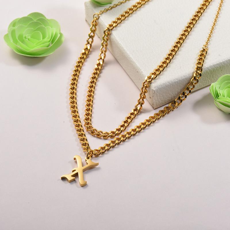 Collares de Acero Inoxidable para Mujer -SSNEG142-26680