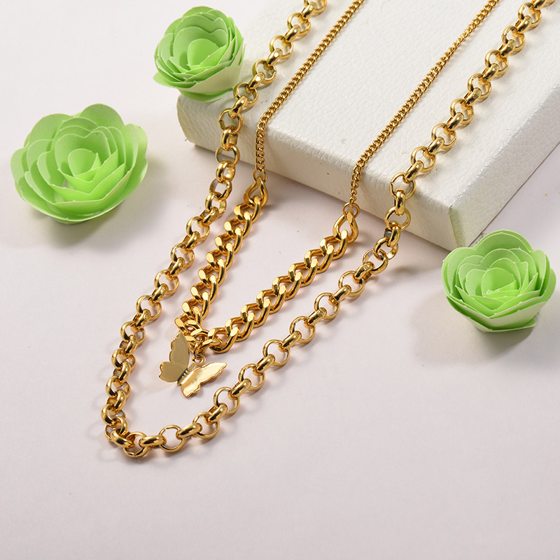 Collares de Acero Inoxidable para Mujer -SSNEG142-26675