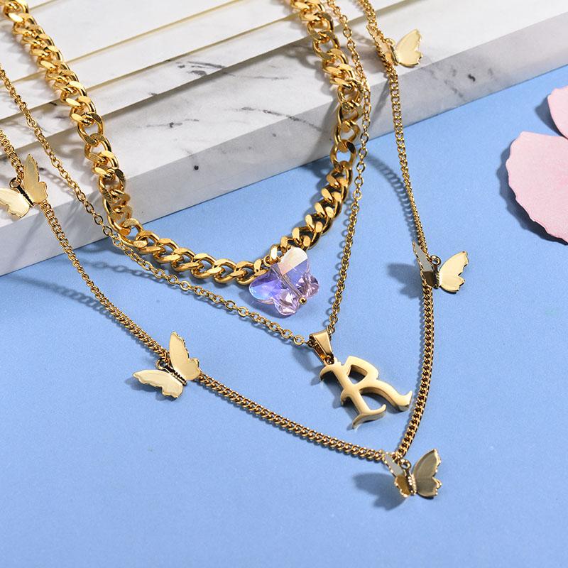 Collares de Acero Inoxidable para Mujer -BRNEG142-26650