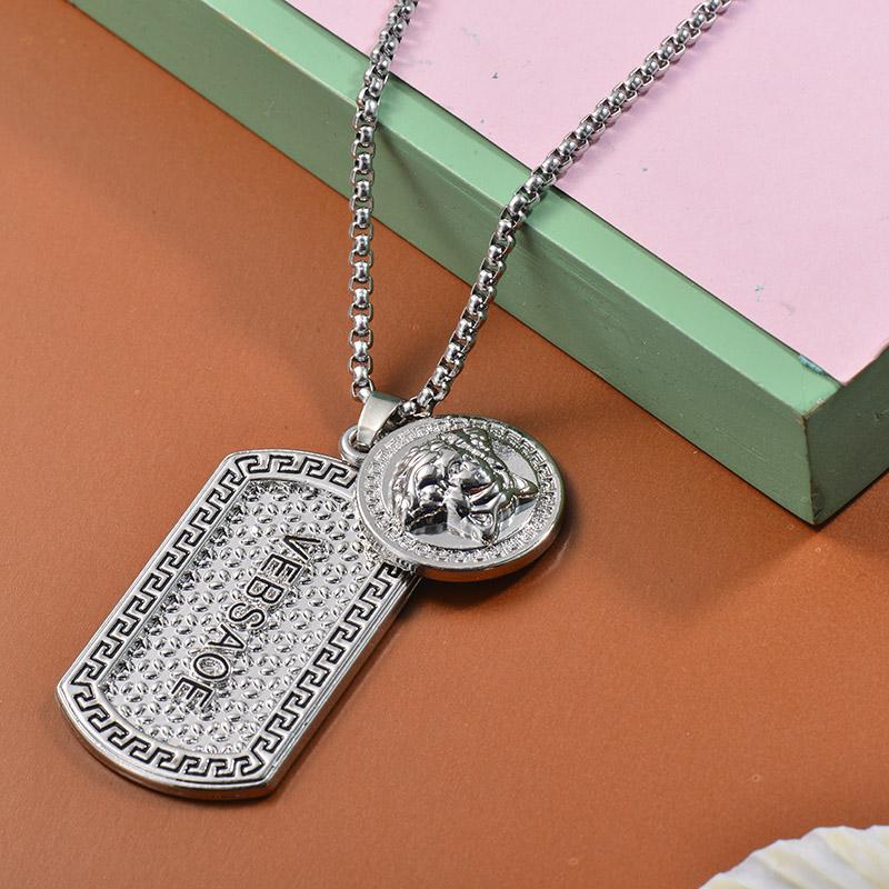 Collares de Acero Inoxidable para Mujer -SSNEG203-27456