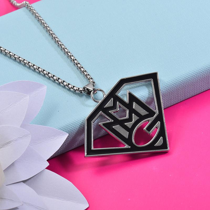 Collares de Acero Inoxidable para Mujer -SSNEG203-27449