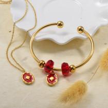 Conuntos de Collar y Pulseras en Acero Inoxidable para Mujer -SSBNG142-27380