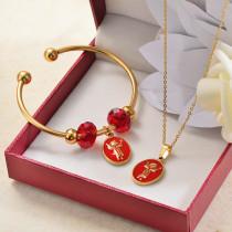 Conuntos de Collar y Pulseras en Acero Inoxidable para Mujer -SSBNG142-27384