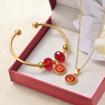 Conuntos de Collar y Pulseras en Acero Inoxidable para Mujer -SSBNG142-27385