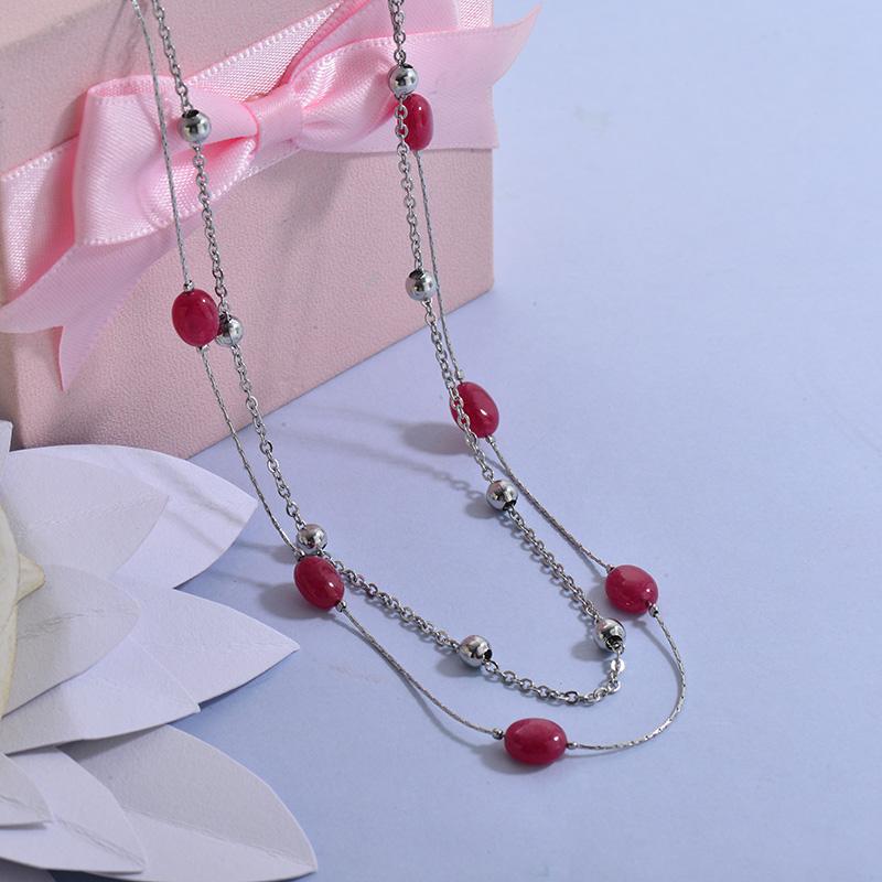 Collares de Acero Inoxidable para Mujer -SSNEG129-27706