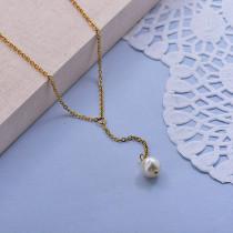 Collares de Acero Inoxidable para Mujer -SSNEG142-28012