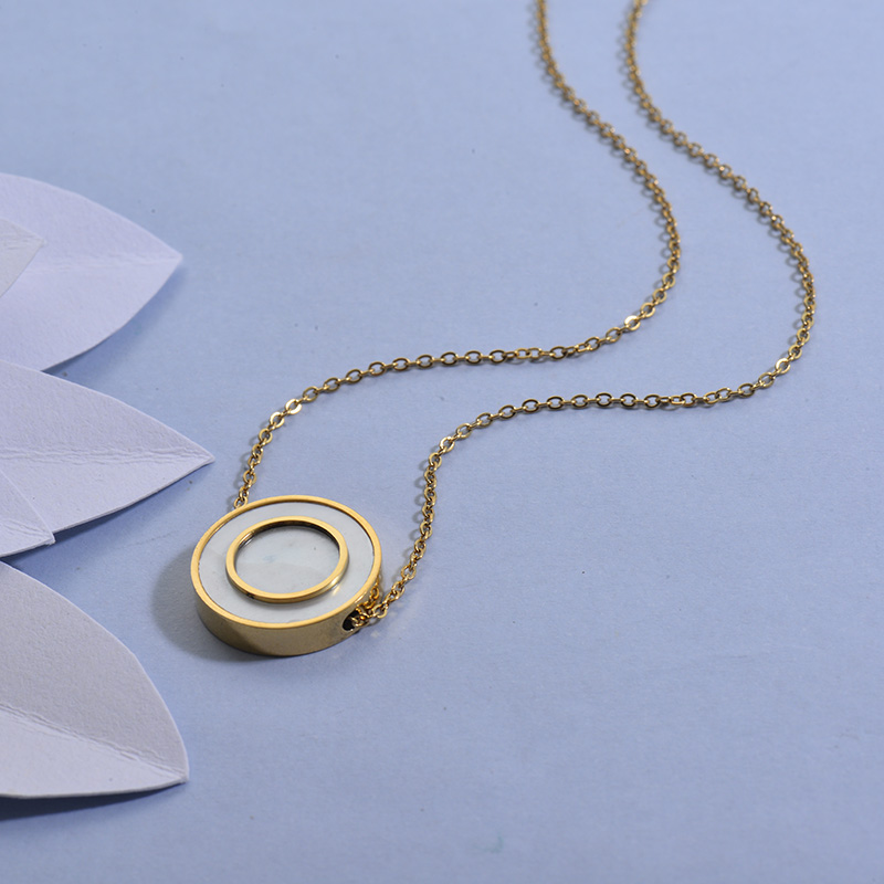 Collares de Acero Inoxidable para Mujer -SSNEG129-27718