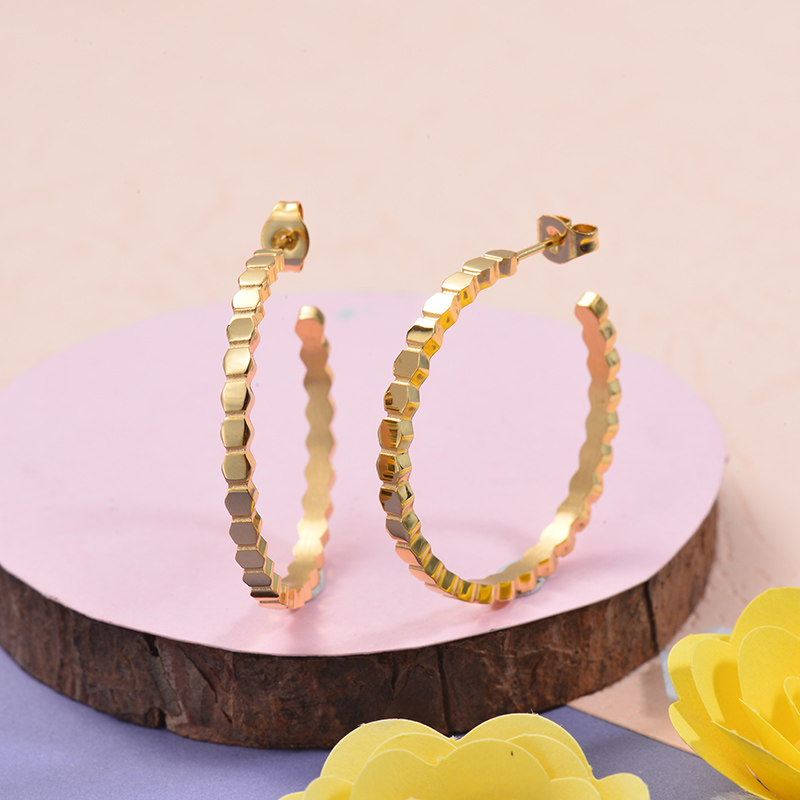 Aretes de acero Inoxidable para Mujer -SSEGG143-27681