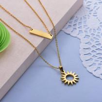Collares de Acero Inoxidable para Mujer -SSNEG142-28014