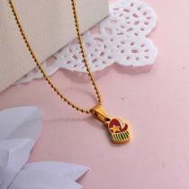 Collares de Acero Inoxidable para Mujer -SSNEG142-27855