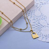 Collares de Acero Inoxidable para Mujer -SSNEG142-28016