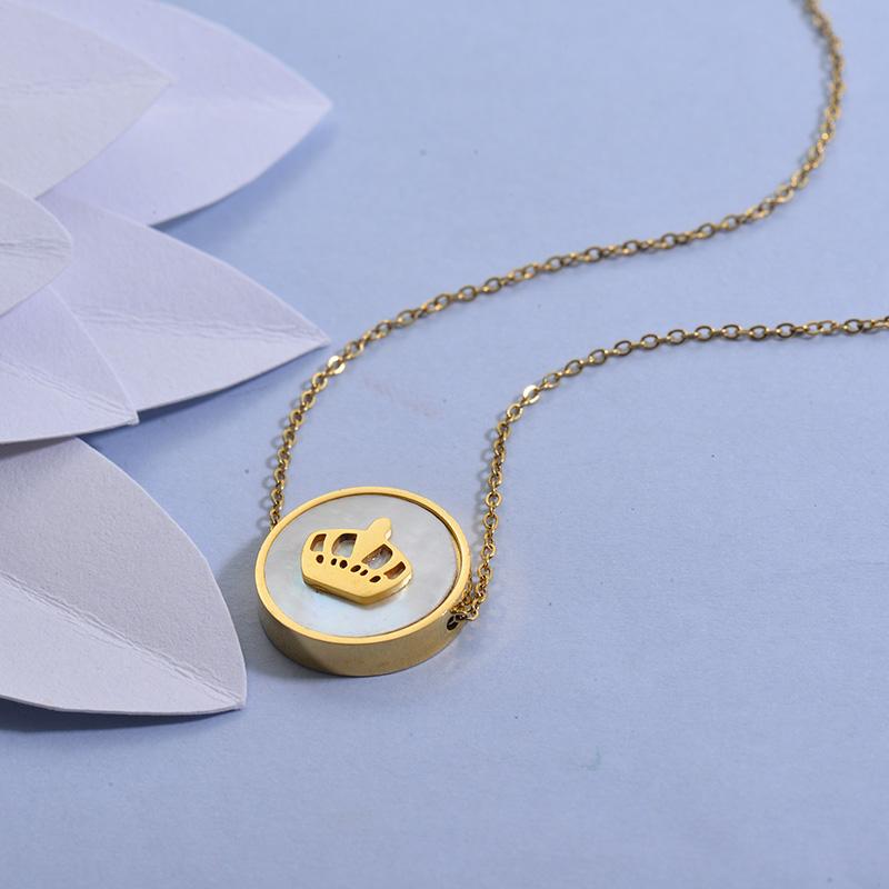 Collares de Acero Inoxidable para Mujer -SSNEG129-27712