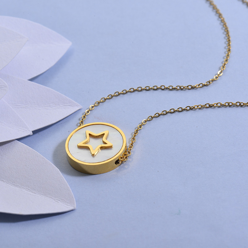 Collares de Acero Inoxidable para Mujer -SSNEG129-27713