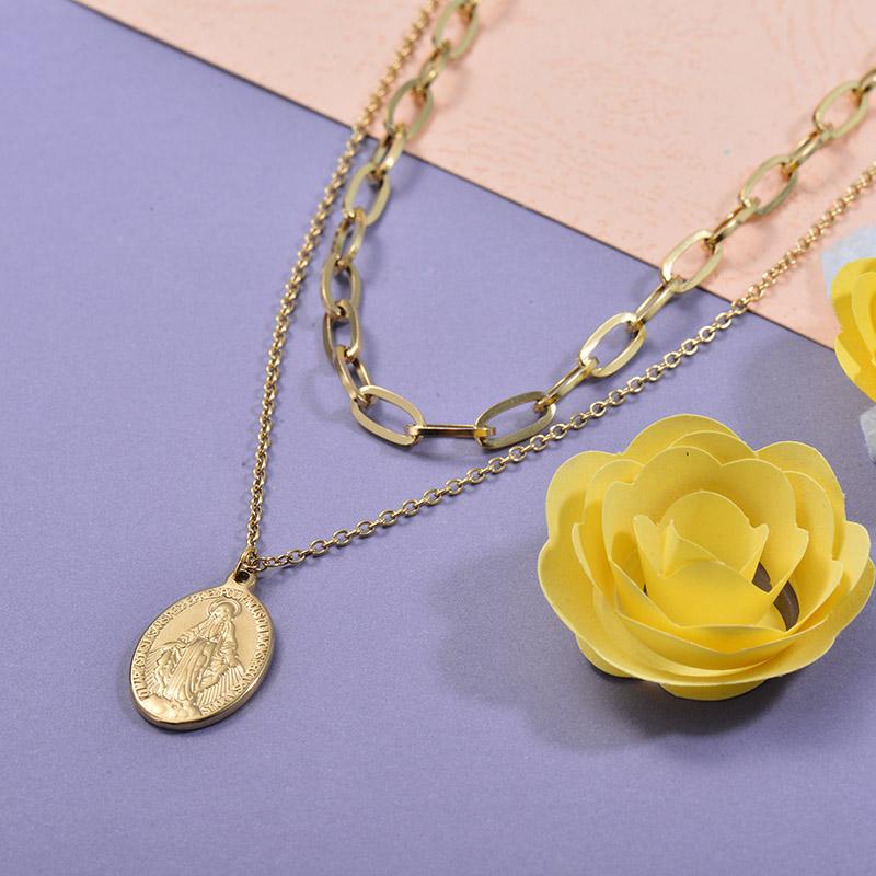 Collares de Acero Inoxidable para Mujer -SSNEG139-27693