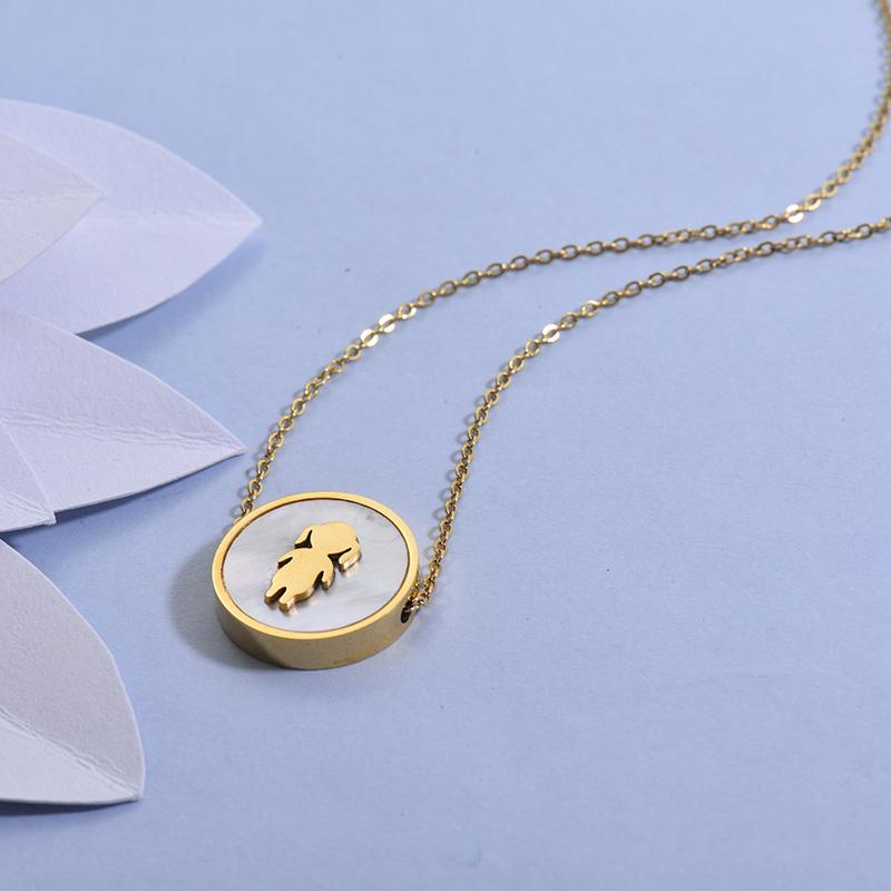 Collares de Acero Inoxidable para Mujer -SSNEG129-27711