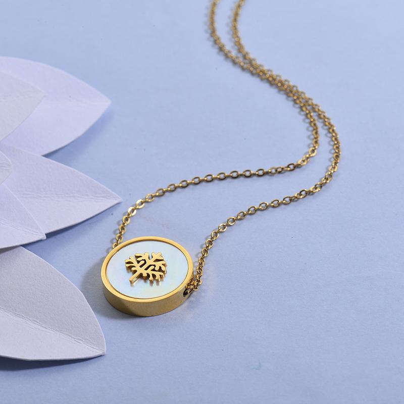 Collares de Acero Inoxidable para Mujer -SSNEG129-27714
