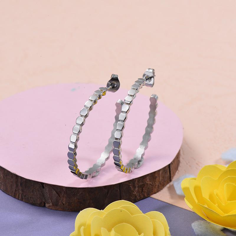 Aretes de acero Inoxidable para Mujer -SSEGG143-27680