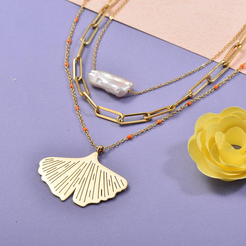 Collares de Acero Inoxidable para Mujer -SSNEG139-27691
