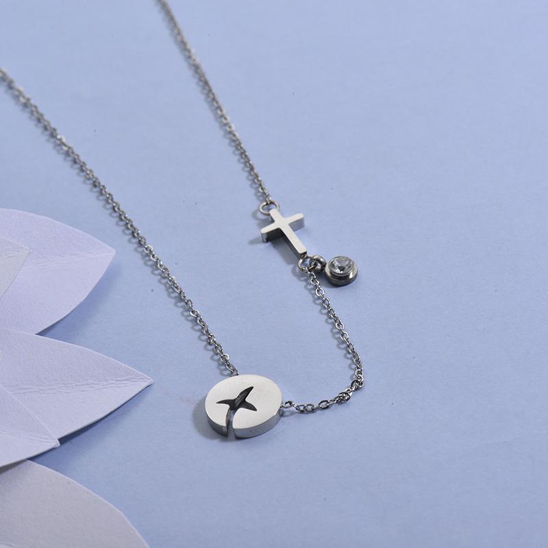 Collares de Acero Inoxidable para Mujer -SSNEG129-27710