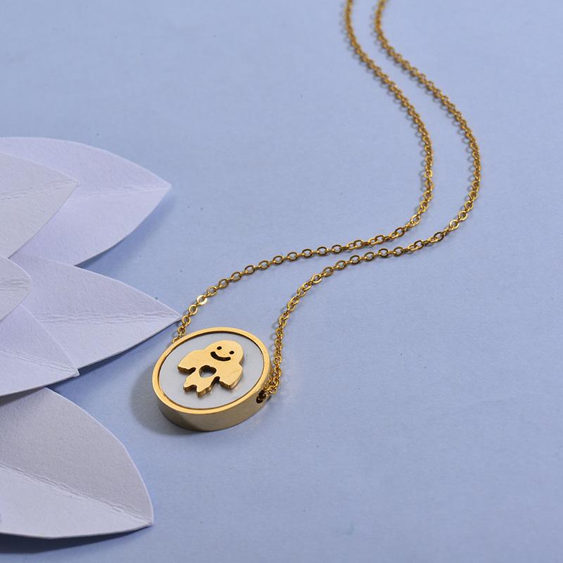 Collares de Acero Inoxidable para Mujer -SSNEG129-27715