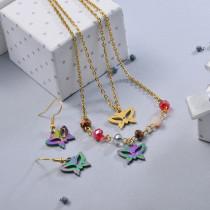 Conjunto de Joyas de Acero Inoxidable para Mujer -SSCSG107-28635