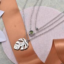 Collares de Acero Inoxidable para Mujer -SSNEG142-28210