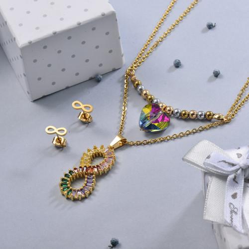 Conjunto de Joyas de Acero Inoxidable para Mujer -BRCSG107-28645