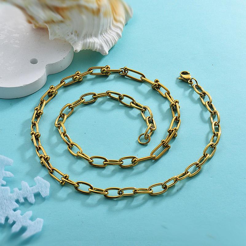 Cadenas de Acero Inoxidable para Mujer -SSNEG143-28088