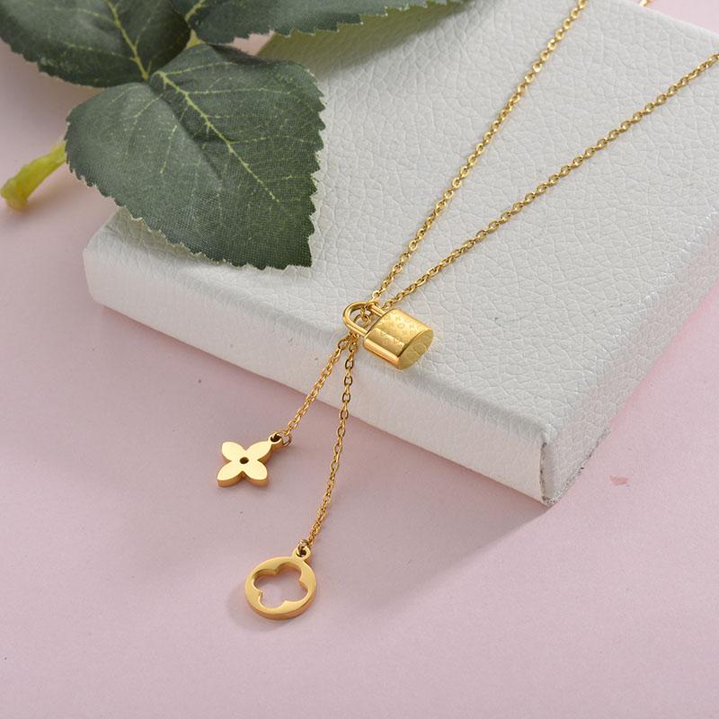 Collares de Acero Inoxidable para Mujer -SSNEG157-28423