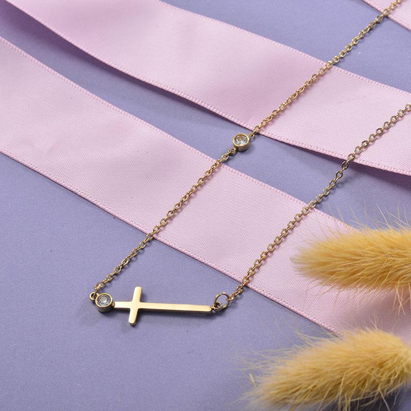Collares de Acero Inoxidable para Mujer -SSNEG129-28668