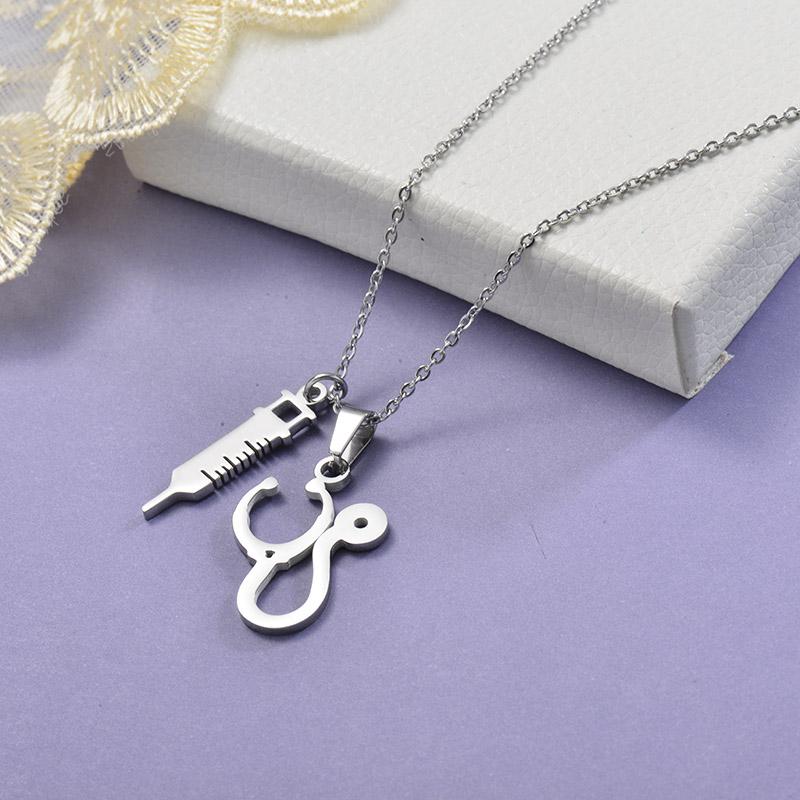 Collares de Acero Inoxidable para Mujer -SSNEG129-28657