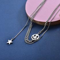 Collares de Acero Inoxidable para Mujer -SSNEG157-28415
