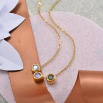 Collares de Acero Inoxidable para Mujer -SSNEG142-28208