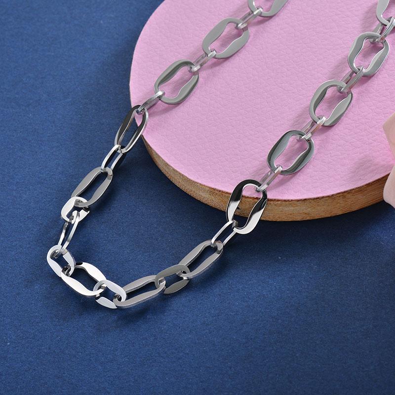 Collares de Acero Inoxidable para Mujer -SSNEG157-28408