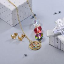 Conjunto de Joyas de Acero Inoxidable para Mujer -BRCSG107-28638