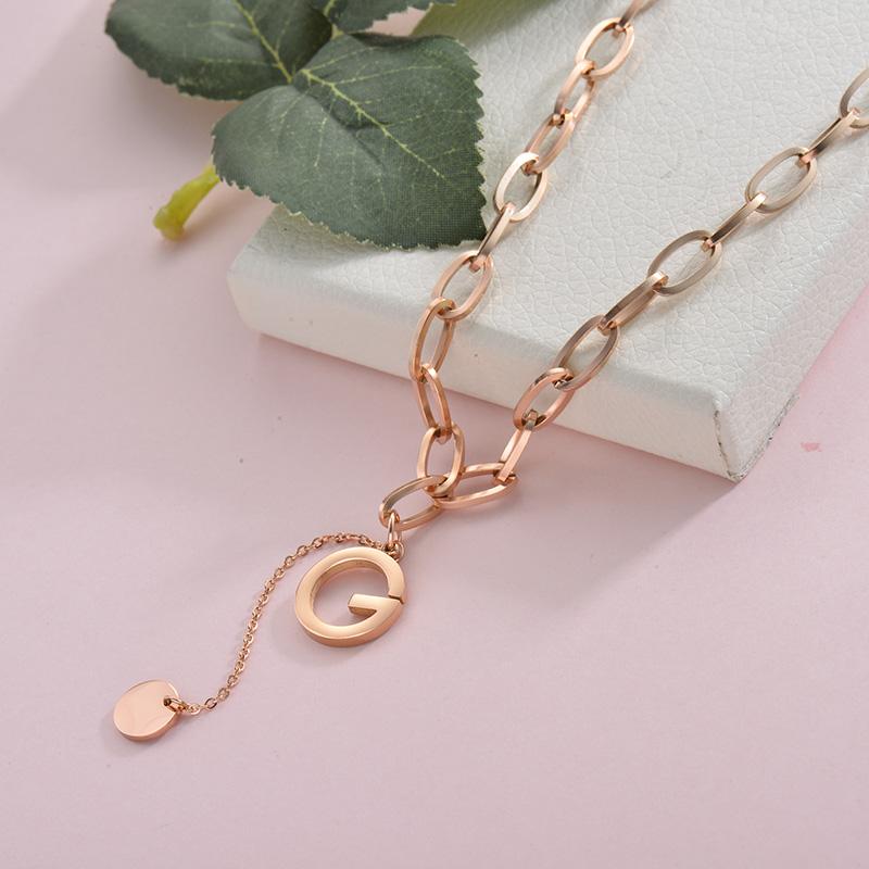 Collares de Acero Inoxidable para Mujer -SSNEG157-28427