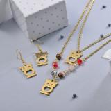 Conjunto de Joyas de Acero Inoxidable para Mujer -SSCSG107-28646