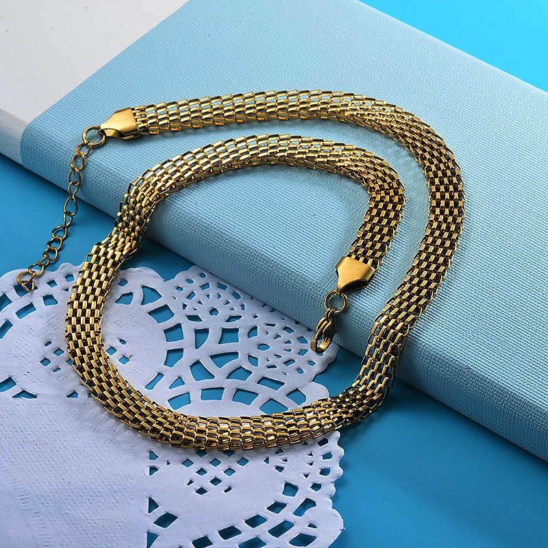 Cadenas de Acero Inoxidable para Mujer -SSNEG143-28745