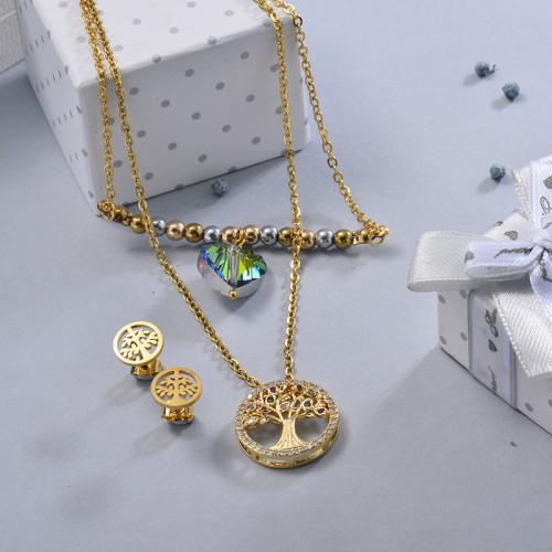 Conjunto de Joyas de Acero Inoxidable para Mujer -BRCSG107-28642