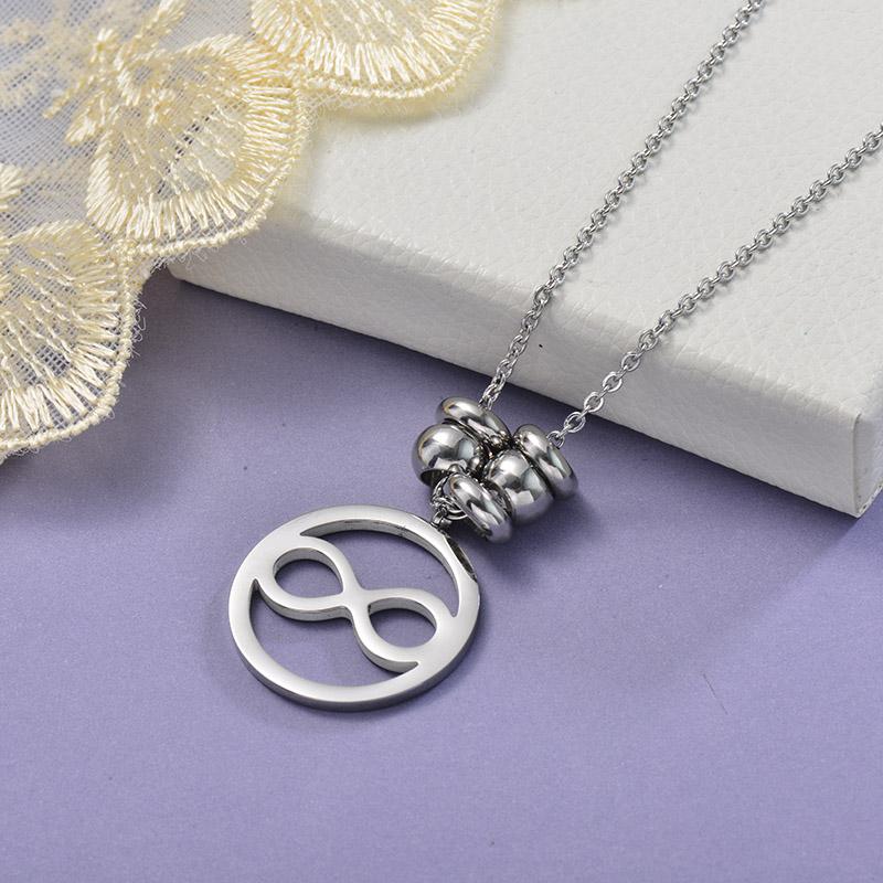 Collares de Acero Inoxidable para Mujer -SSNEG129-28650