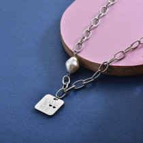 Collares de Acero Inoxidable para Mujer -SSNEG157-28413