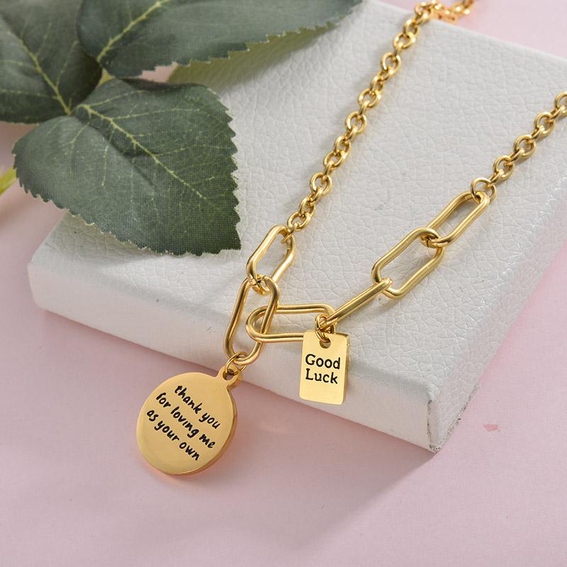 Collares de Acero Inoxidable para Mujer -SSNEG157-28426